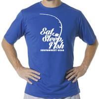 Performance T-shirt Moisture Wicking, Odor Resistant - Eat, Sleep, Fish