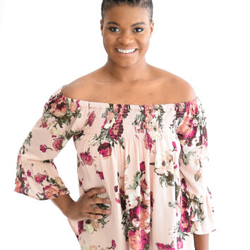 Blakely Floral Top In Mauve