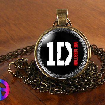 One Direction 1D Music Mens Women Fan Glass Pendant Necklace Jewelry Art Gift