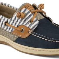 Sperry Top-Sider Bluefish Mariner Stripe 2-Eye Boat Shoe Navy, Size 9M  Women's Shoes