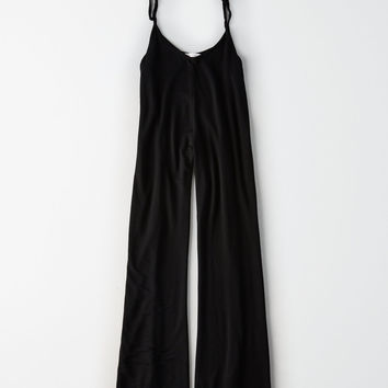 Don't Ask Why Baby Terry Tie Strap Jumpsuit, Black