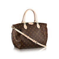 Authentic Louis Vuitton Monogram Canvas Turenne MM Tote Bag Handbag Article: M48814 Made in France