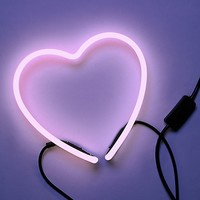 Free People Luxe Neon Heart Light at Free People Clothing Boutique
