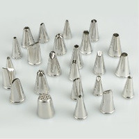 24PCS Lcing Piping Nozzles Tips Pastry Cake Cupcake Sugarcraft Decorating Tool