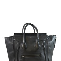 Celine Pebbled Black Luggage Tote