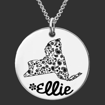 New York Personalized Necklace | New York State