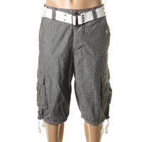 XRAY Jeans Mens Cotton Button Fly Cargo Shorts