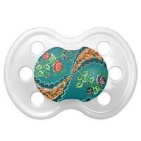 Vintage Decorative Colorful French Floral Baby Pacifiers