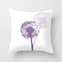 DANDELION DANCE Throw Pillow by Monika Strigel