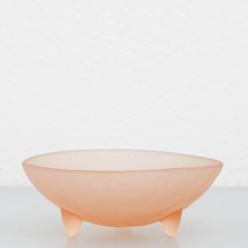 "Hudson Beach Glass Tripot Bowl - 5"" Blush"