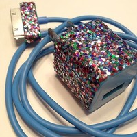 Sparkly Rainbow Iphone 4/4s Charger