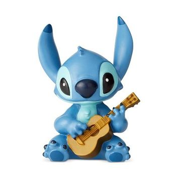 Disney Showcase Stitch with Guitar Mini Figurine