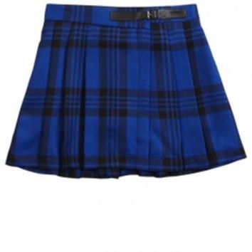 Justice Girl's Blue Pleated Skater Skirt Size 10 NWT $29.90