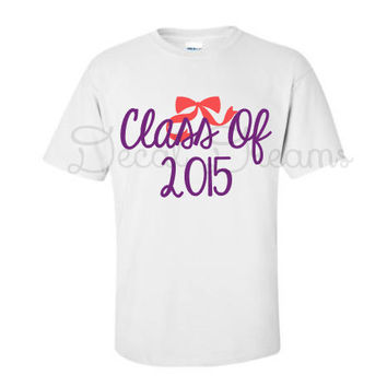 Class of 2015 2016 2017 Tshirt Tee Shirt Senior Shirt Cute Glitter Monogram Girly Senior Junior Sophmore Cute Class Senior Graduation Gift