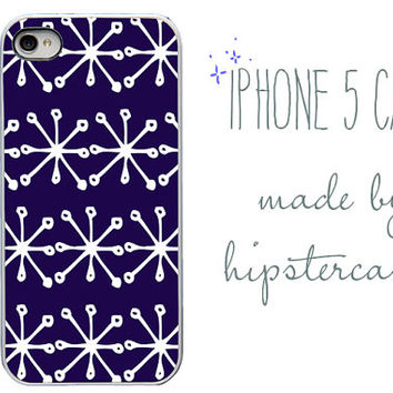 Iphone 5 Case. Navy and white Jacks. Designer Hipster case.