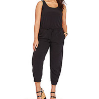Lauren Ralph Lauren Plus Scoopneck Jumpsuit - Black