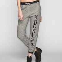 Young & Reckless Reckless Gram Womens Sweatpants Heather Grey  In Sizes