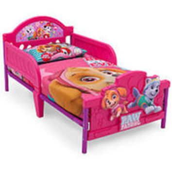 Nickelodeon Paw Patrol Skye and Everest 3D Toddler Bed