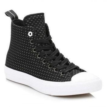 DCCK1IN converse all star chuck taylor ii mens black thunder shield trainers