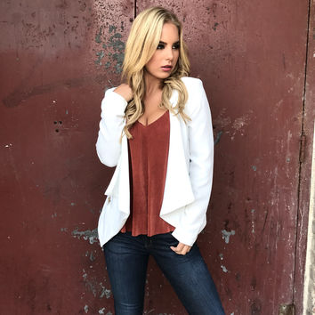 Kick Back Blazer In Ivory