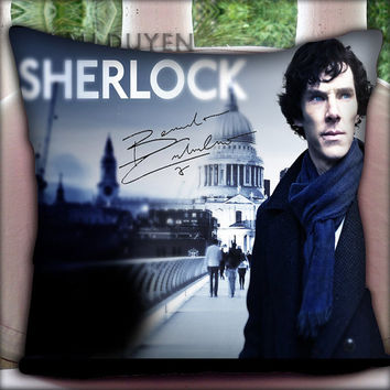 Sherlock Holmes - Pillow Cover Pillow Case and Decorated Pillow.
