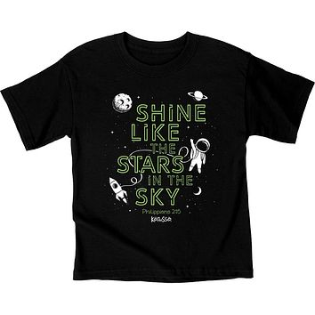 Kerusso Shine Like the Stars in the Sky Astronaut Christian Toddler Youth Bright T Shirt