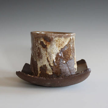 Yunomi with a Saucer, Tea Cup and Saucer, handmade ceramic tea cup, ceramics and pottery, pottery tea cup, stoneware cup