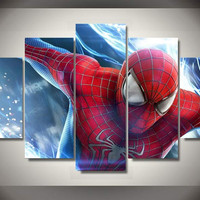 5 Panel Spiderman Canvas Wall Art