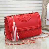 Tory Burch 2019 new female tassel chain bag shoulder diagonal package #1
