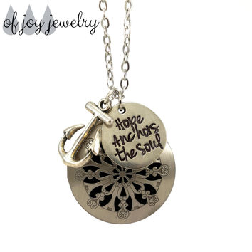 Diffuser Necklace - Hope Anchors the Soul