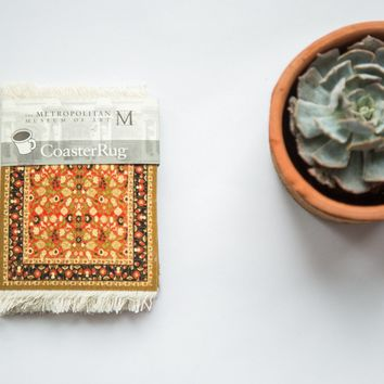 Metropolitan Museum of Art Mughal Lotus Rug Coaster Set