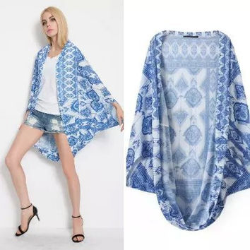 Summer Women's Fashion Print Jacket [6513141703]