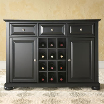 dining room buffet table with wine dimensions design black sideboard cabinet storage