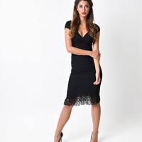 Black Lace Annabella Wiggle Dress