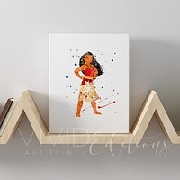 Moana Gallery Wrapped Canvas