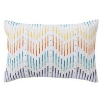 Room Essentials® Embroidered Chevron Decorative Pillow