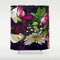 :: Bring Flowers :: Shower Curtain by :: GaleStorm Artworks ::