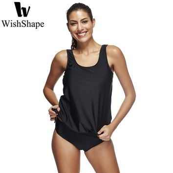 Sexy Swimwear Women Tankini With Shorts Two Pieces Black Tankini Swimsuit Plus Size Bathing Suit Push Up Beach Swimming Suits