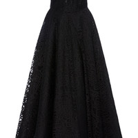 Strapless Lace Ankle Length Dress | Moda Operandi