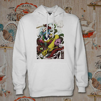 Adventure Time Hoodie,Unisex Adults Size,Available Color White Black