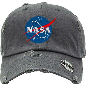 NASA Distressed Baseball Hat