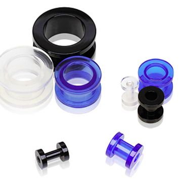 UV Coated Acrylic Screw Tunnel Plug