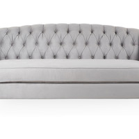 "Coco 82"" Tufted Sofa, Pewter, Sofas & Loveseats"