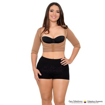 Fajas Colombianas Post Surgical Compression Garments Arm Vest with Compression Sleeves Ref 088