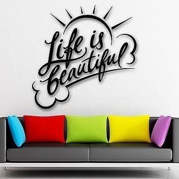 Wall Sticker Vinyl Decal Inspiring Quote Positive Room Home Decor Unique Gift (ig1973)