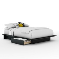 South Shore Full/Queen Platform Bed (Black)