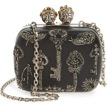 Alexander McQueen Embellished Kiss Lock Mini Clutch | Nordstrom