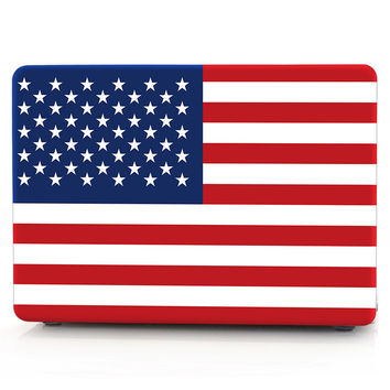 NEW USA Flag Pattern Design Matte Rubberized Hard Case Cover Shell Skin For all Apple Macbook Pro Air 11 13 15 Retina 13 15 inch