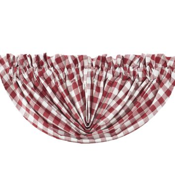 Buffalo Red Check Balloon Valance