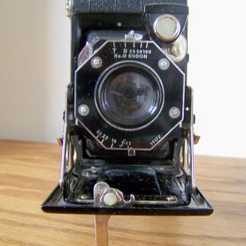 Vintage Antique Kodak Kondon Folding Accordion Camera - 1930's - Free Shipping